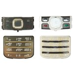 Keyboard Nokia 6700c, (golden, russian)