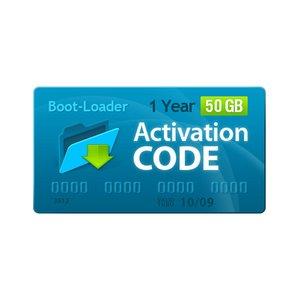 Boot-Loader v2.0 Código de activación (1 año, 50 +10 GB)