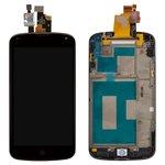 Pantalla LCD LG E960 Nexus 4, negro, con panel delantero, con cristal táctil