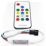 Controlador LED con control remoto por radio (RF) SP103E (RGB, WS2801, WS2811, WS2812, WS2813 5 V)