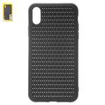 Чехол Baseus Apple iPhone XR, черный, плетёный, #WIAPIPH61-BV01