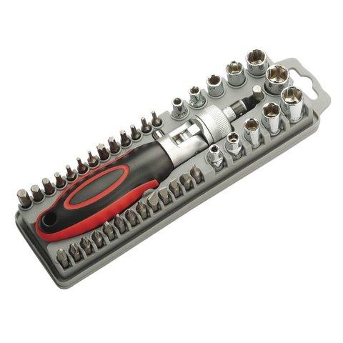 Набор насадок Pro'sKit SD-2309  с регулируемой трещоткой