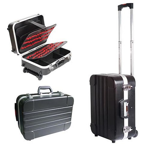 Heavy duty ABS cases Pro'sKit TC 311 with wheels and telescoping handle